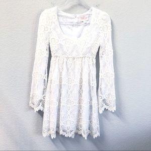 Stone Cold Fox Billi White Lace Mini Dress